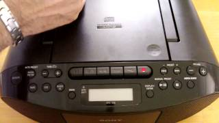 Testing | Sony | cd player | CFD-S50 radio | cassette | boombox mega bass recorder