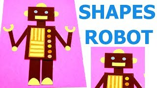 ROBOT FROM GEOMETRIC SHAPES | ROBOT WITH SHAPES | MATHS PROJECT| MAKE WITH SHAPES | SHAPES ROBOT