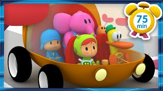 POCOYO in ENGLISH - Let's travel by car [75 min] | Full Episodes | VIDEOS and CARTOONS for KIDS