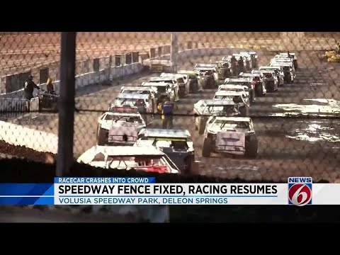 Fence fixed at Volusia Speedway Park as racing resumes