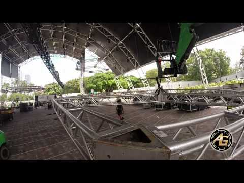 Ultra Music Festival 2014 - Megastructure TimeLapse - AG Light Sound
