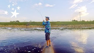 Bass Fishing - KILLER Spillway SLASH and SMASH Fest!! (Unexpected Catch)