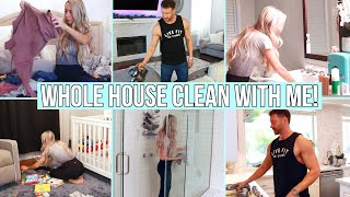 Whole House Clean With Me! Cleaning Motivation! Husband Vs. Wife Edition