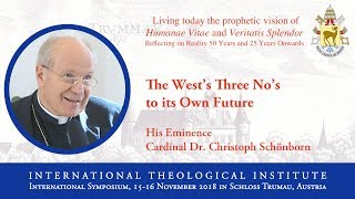 ITI International Symposium - His Eminence Cardinal Dr. Christoph Schönborn (2/16)
