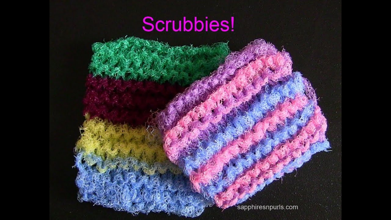 Knit a Scrubbie - YouTube