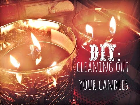 diy: cleaning candle jars