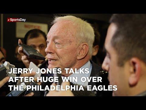 Jerry Jones talks after huge win over the Philadelphia Eagles