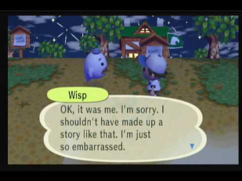 Animal Crossing City Folk - Wisp Encounter - YouTube
