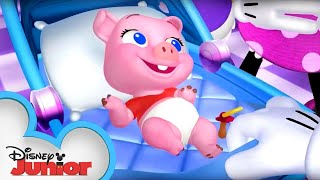 Adventures in Piggy Sitting | Minnie's Bow-Toons | Disney Junior