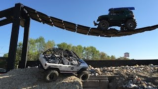 Dual Motor SCX10 Tackles The New Trail Course At Debbie's RC World