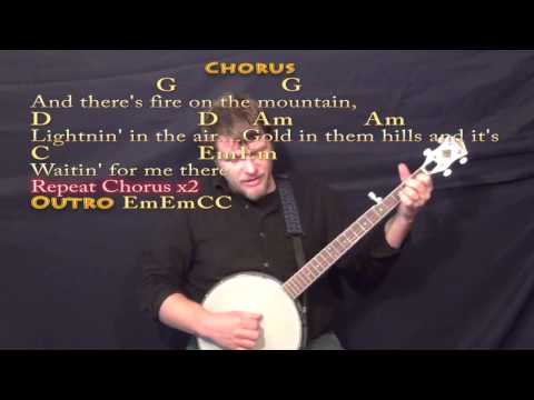 Fire on the Mountain (MARSHALL tUCKER) Banjo Cover Lesson with Chords/Lyrics