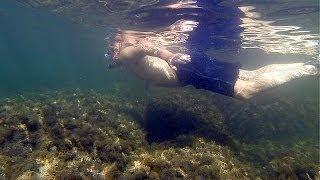 Сноркелинг в Джанхоте(Сноркелинг - подводные погружения с маской и трубкой. Предлагаем Вам видео погружения у берегов Джанхота..., 2013-12-14T11:26:31.000Z)