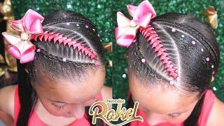 Diadema Con Trenza Y Encintado / Peinado Infantil/ Hairstyle for girls