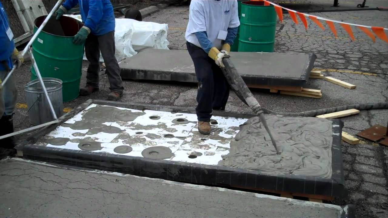 Cellular Concrete Systems : Elastizell cellular concrete pour demonstration youtube