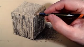 How to draw  a wooden cube, Tutorial