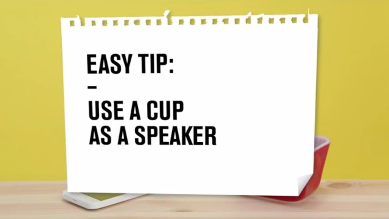 how to make a speaker out of a cup