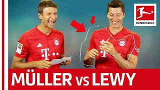 Robert Lewandowski vs. Thomas Müller - Buzz Wire Challenge