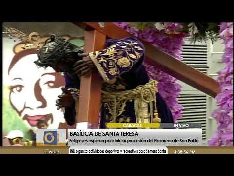 Procesi�n del Nazareno de San Pablo ya sali� a recorrer las calles de Caracas