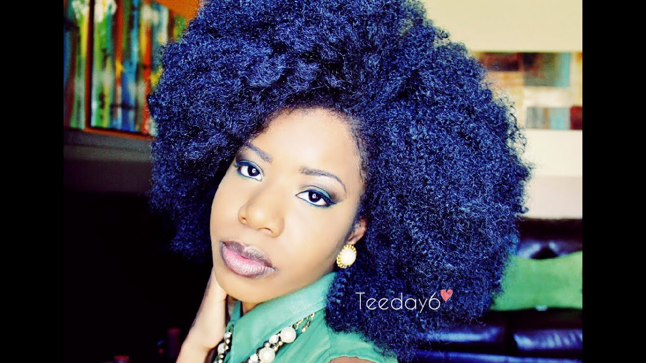 Crochet Afro : HUGE Kinky Afro Crochet Braids TEEDAY6 - YouTube