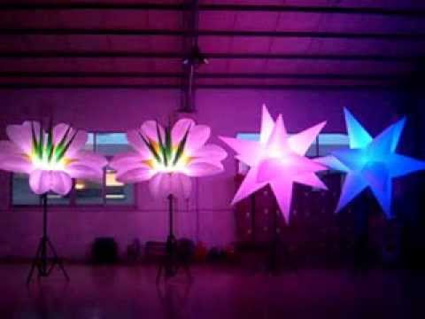 inflatable sun flower lighting stars inflatable lighting cone inflatable star youtube. Black Bedroom Furniture Sets. Home Design Ideas