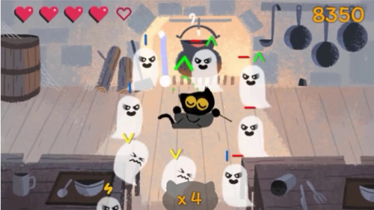 Google Doodle Halloween Game 2016 Ghost Vs Cat Youtube