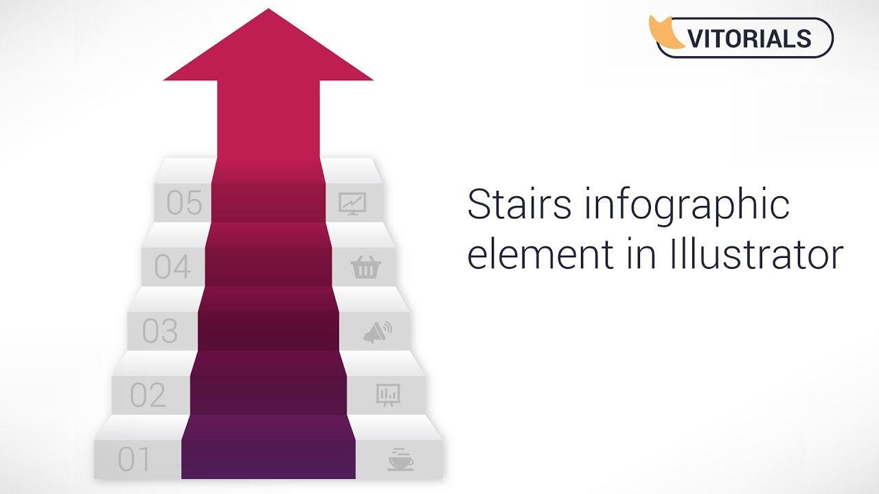 stairs infographic adobe illustrator tutorial  how to