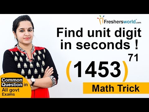 Aptitude Made Easy – Easy way of finding unit digit? - Common topic in Bank exam,Math tricks