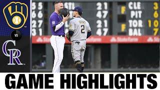 Brewers vs. Rockies Game Highlights (6/19/21)   MLB Highlights
