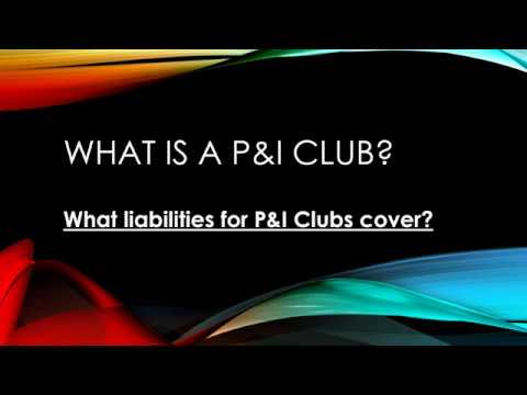 What Is P&I Club - What Liabilities Do They Cover?