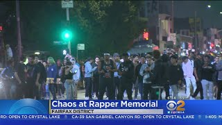 Chaos Erupts At Rapper's Memorial In Fairfax District