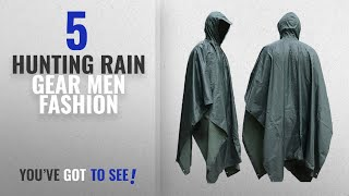 Top 10 Hunting Rain Gear [Men Fashion Winter 2018 ]: JTENG Waterproof Ripstop Hooded US PVC