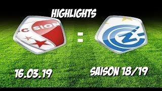 Highlights: Fc Sion vs Grasshopper Club Zürich (16.03.19)