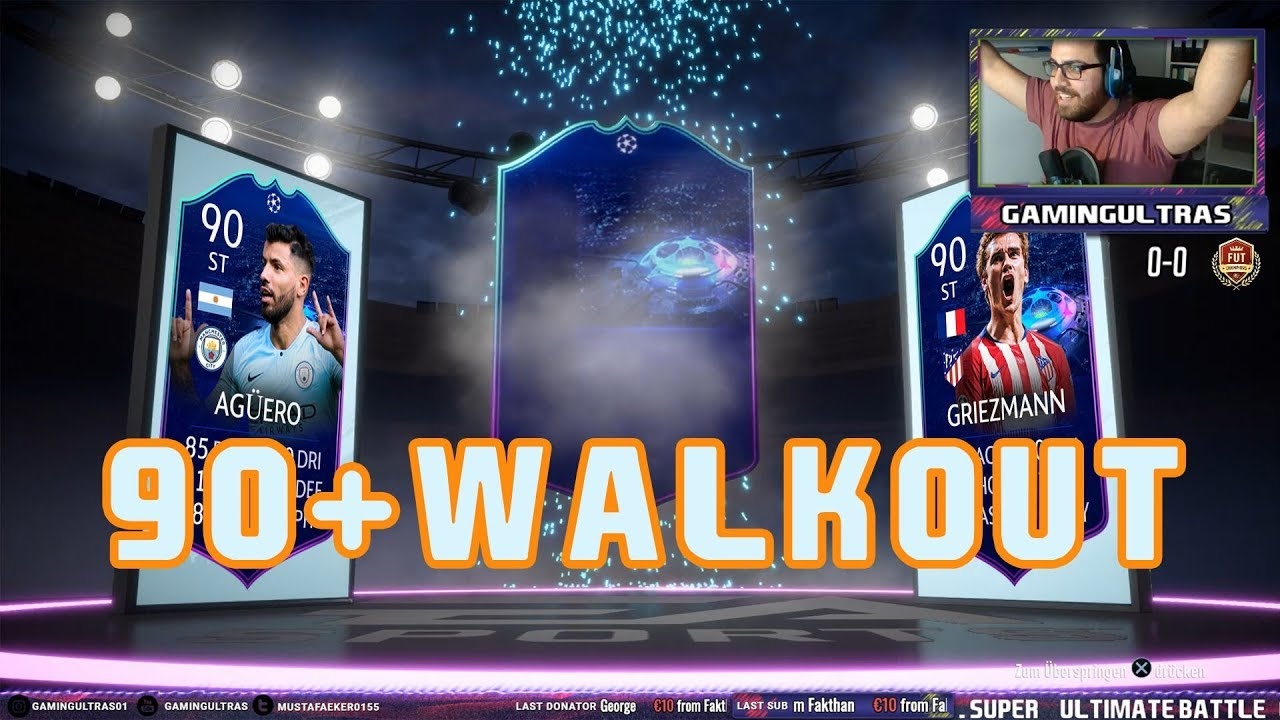 🔥🔥🔥FIFA19 UCL 90+WALKOUT PACK OPENING🔥🔥🔥