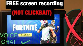 FREE FORTNITE SCREEN RECORDING ON NINTENDO SWITCH