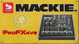 MACKIE ProFX4v2 - портативный микшерный пульт с процессором эффектов(Микшерный пульт MACKIE ProFX4v2 https://goo.gl/xhaON3 – это компактная четырёхканальная модель для диджеев, ведущих, караок..., 2016-02-03T06:45:37.000Z)