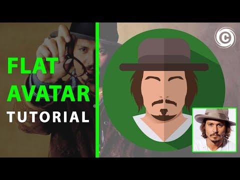 Simple Flat Avatar | Adobe Illustrator | Tutorial