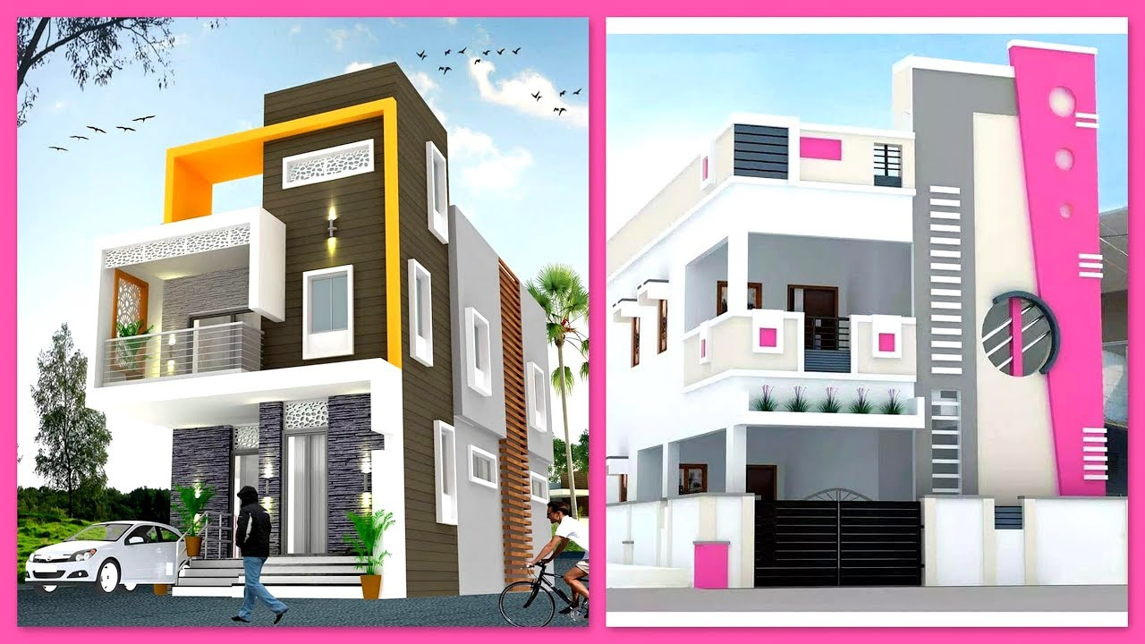 Modern Two Storey House Front Elevation Designs Two