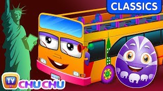 ChuChu TV Classics - Wheels On The Bus - New York City | Surprise Eggs Nursery Rhymes