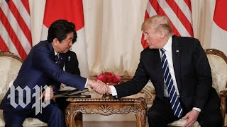 President Trump and Japanese Prime Minister Shinzo Abe hold a news ...