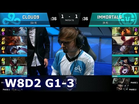 Cloud 9 vs Immortals Game 3 | S7 NA LCS Spring 2017 Week 8 Day 2 | C9 vs IMT G3 W8D1