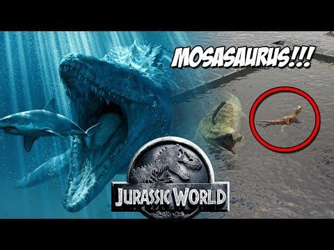 MOSASAURUS DE JURASSIC WORLD! ALIMENTANDO AL MOSASAURUS! JURASSIC WORLD ARK PARK!!