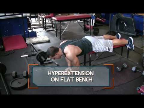 Hyperextension on Flat Bench - How to do Flat Bench Back Extensions