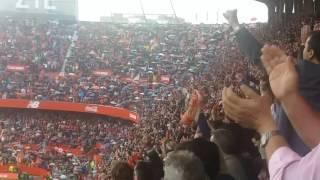 FC Sevilla - Atletico Madrid 1:0 23.10.2016 Aficion Fans Supporters Fan Atleti Gol Goal