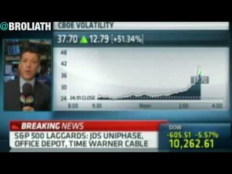 """CNBC Coverage of the Dow 1000 Point Plunge - """"Machine Error"""""""