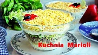 Sałatka kijowska z serem, tuńczykiem i jajkami