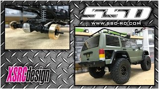 SCX10.2 - Installing SSD-RC rear lockouts, diff cover and brass weights