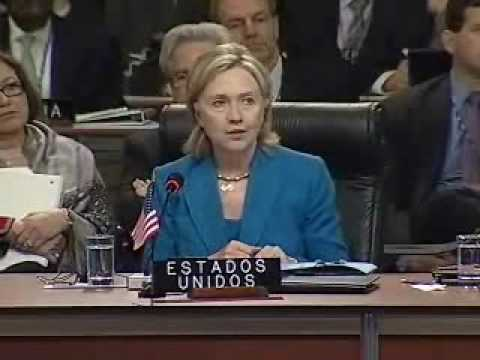 LAHT.COM -- US Secretary of State Hillary Clinton addresses OAS