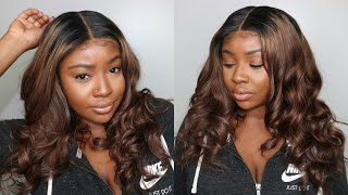 BROWN OMBRE 360 LACE WIG EASY INSTALL | YS WIGS