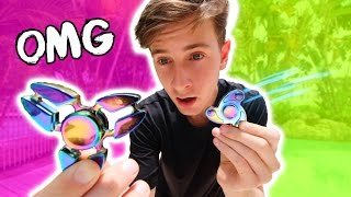 RARE RAINBOW FIDGET SPINNERS! (REVIEW & TESTS)