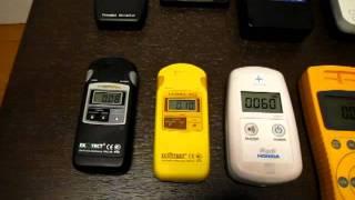 ガイガーカウンター【9機種同時測定】 10万円前後の機器でもOK